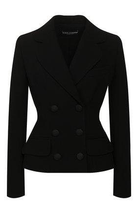 Женский шерстяной жакет DOLCE & GABBANA черного цвета, арт. F28UFT/FUBCI   Фото 1