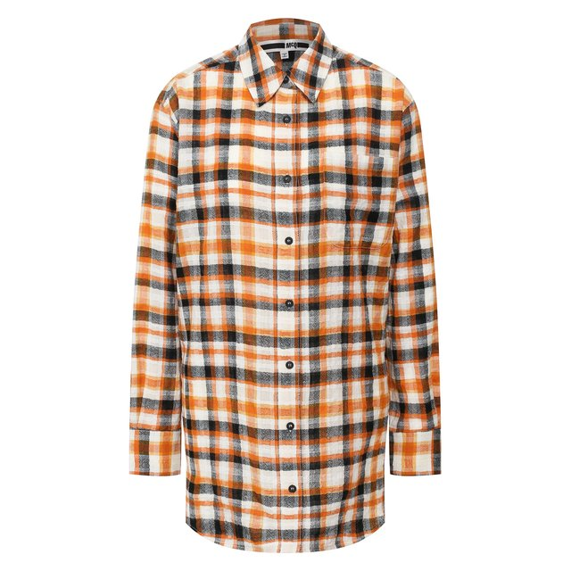 Рубашка из смеси хлопка и шерсти MCQ