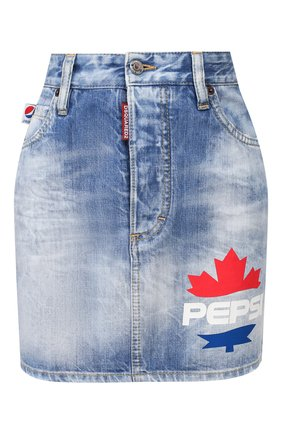 Женская джинсовая юбка DSQUARED2 синего цвета, арт. S73MA0474/S30309 | Фото 1