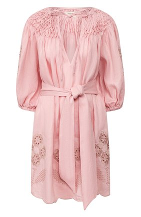 Женское льняное платье INNIKA CHOO розового цвета, арт. M2002LINS01CDFL | Фото 1