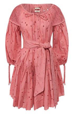 Женское хлопковое платье INNIKA CHOO розового цвета, арт. M2003C0TB02MKUP | Фото 1