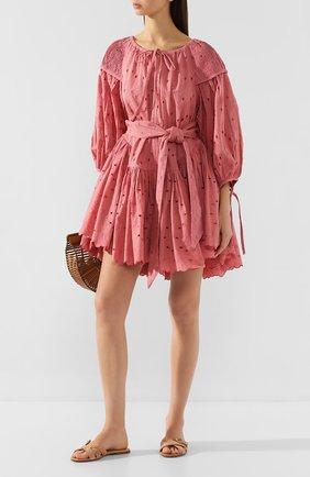 Женское хлопковое платье INNIKA CHOO розового цвета, арт. M2003C0TB02MKUP | Фото 2