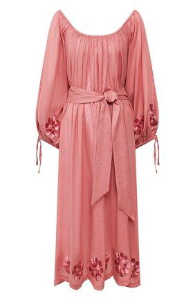 Женское хлопковое платье INNIKA CHOO розового цвета, арт. M2005C0TS01MKUP | Фото 1