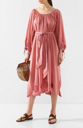 Женское хлопковое платье INNIKA CHOO розового цвета, арт. M2005C0TS01MKUP | Фото 2
