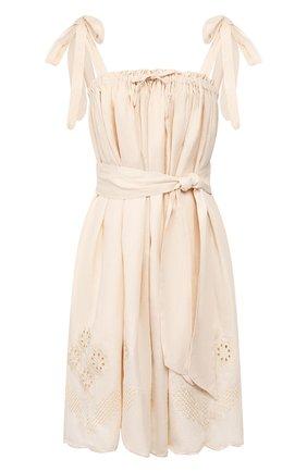 Женское льняное платье INNIKA CHOO бежевого цвета, арт. M2007LINS01PANA | Фото 1