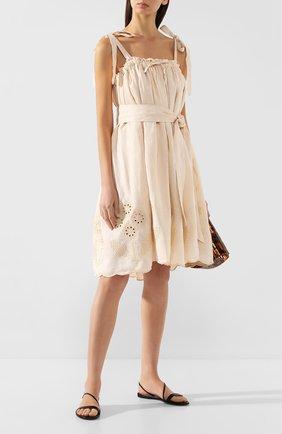 Женское льняное платье INNIKA CHOO бежевого цвета, арт. M2007LINS01PANA | Фото 2