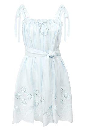 Женское льняное платье INNIKA CHOO голубого цвета, арт. M2007LINS01SEFM | Фото 1