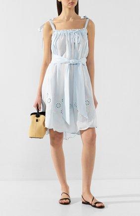 Женское льняное платье INNIKA CHOO голубого цвета, арт. M2007LINS01SEFM | Фото 2