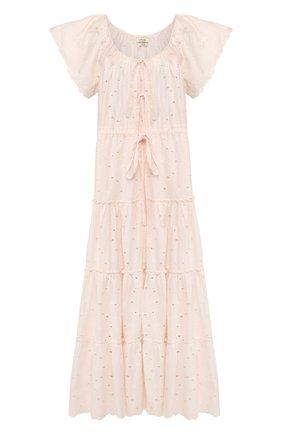 Женское хлопковое платье INNIKA CHOO розового цвета, арт. M2015C0TB01BLSH | Фото 1