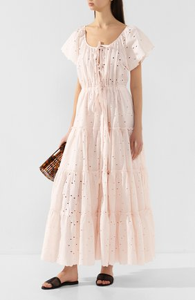 Женское хлопковое платье INNIKA CHOO розового цвета, арт. M2015C0TB01BLSH | Фото 2