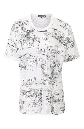 Женская хлопковая футболка MARKUS LUPFER черно-белого цвета, арт. TEE331 | Фото 1