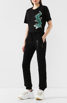Женская хлопковая футболка MARKUS LUPFER черного цвета, арт. TEE323 | Фото 2