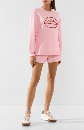 Женская хлопковый свитшот MARKUS LUPFER розового цвета, арт. SW356 | Фото 2