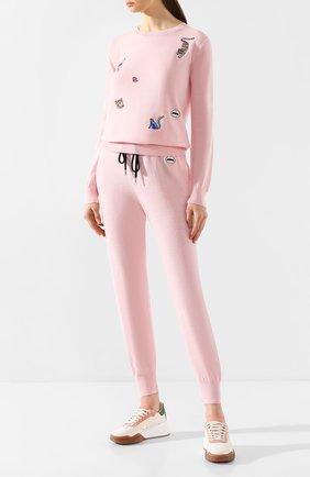 Женские джоггеры MARKUS LUPFER розового цвета, арт. KN2829 | Фото 2