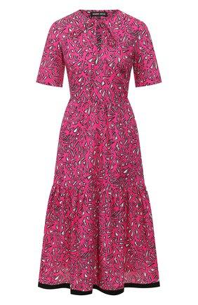 Женское хлопковое платье MARKUS LUPFER фуксия цвета, арт. DR1108 | Фото 1