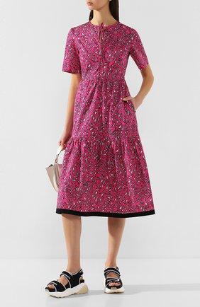 Женское хлопковое платье MARKUS LUPFER фуксия цвета, арт. DR1108 | Фото 2