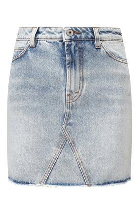 Женская джинсовая юбка HERON PRESTON голубого цвета, арт. HWYF002R206410017319 | Фото 1
