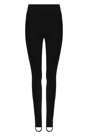 Женские леггинсы со штрипками ADIDAS BY STELLA MCCARTNEY черного цвета, арт. FK7009 | Фото 1
