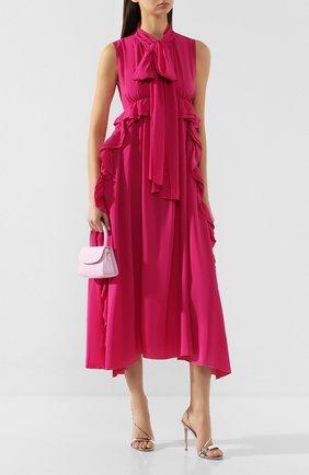 Женское платье-миди N21 фуксия цвета, арт. 20E N2M0/H221/5111 | Фото 2