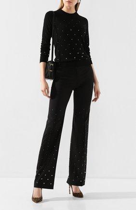 Женская шерстяной пуловер N21 черного цвета, арт. 20E N2M0/A008/7019 | Фото 2