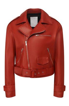 Женская кожаная куртка TWINS FLORENCE красного цвета, арт. TWFPE20GIU0005B | Фото 1