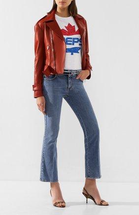 Женская кожаная куртка TWINS FLORENCE красного цвета, арт. TWFPE20GIU0005B | Фото 2