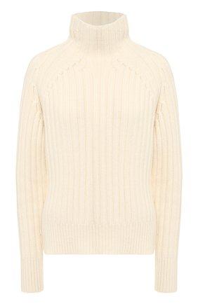Женский свитер из шерсти и кашемира POLO RALPH LAUREN кремвого цвета, арт. 211780367 | Фото 1