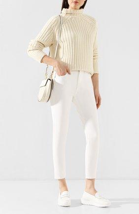 Женский свитер из шерсти и кашемира POLO RALPH LAUREN кремвого цвета, арт. 211780367 | Фото 2