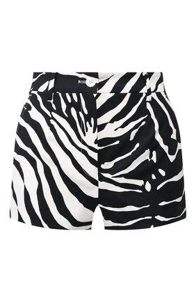 Женские хлопковые шорты DOLCE & GABBANA черно-белого цвета, арт. FTBVJT/FSFJ2 | Фото 1