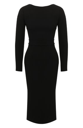 Женское шерстяное платье DOLCE & GABBANA черного цвета, арт. F6F8RT/FUBD2 | Фото 1
