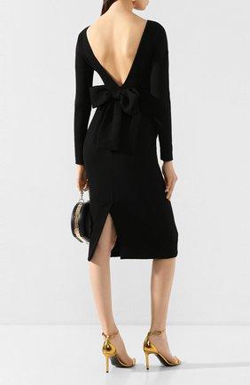 Женское шерстяное платье DOLCE & GABBANA черного цвета, арт. F6F8RT/FUBD2 | Фото 2