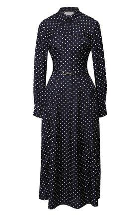 Женское шелковое платье GABRIELA HEARST темно-синего цвета, арт. 320409 P009 | Фото 1