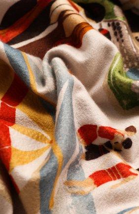 Мужского кашемировый плед LORO PIANA бежевого цвета, арт. FAG1800 | Фото 2