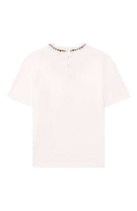 Детская хлопковая футболка DOLCE & GABBANA белого цвета, арт. L5JTFB/G7WCW/2-6   Фото 2