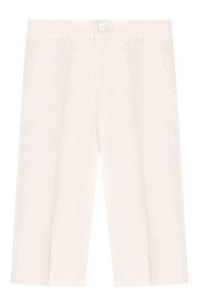 Детские шелковые брюки DOLCE & GABBANA белого цвета, арт. L0EGC6/FU1IR | Фото 1