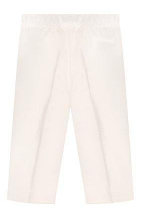 Детские шелковые брюки DOLCE & GABBANA белого цвета, арт. L0EGC6/FU1IR | Фото 2