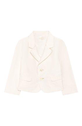 Детский шелковый пиджак DOLCE & GABBANA белого цвета, арт. L0EGC5/FU1IR | Фото 1