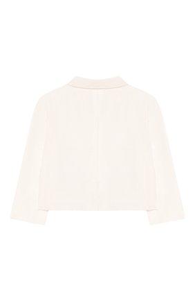Детский шелковый пиджак DOLCE & GABBANA белого цвета, арт. L0EGC5/FU1IR | Фото 2