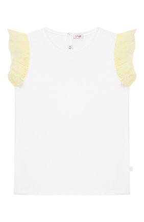 Детская хлопковая футболка IL GUFO желтого цвета, арт. P20TS236M0014/10A-12A   Фото 1