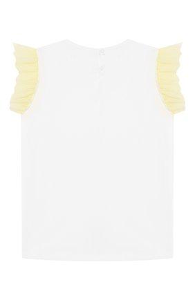 Детская хлопковая футболка IL GUFO желтого цвета, арт. P20TS236M0014/10A-12A   Фото 2
