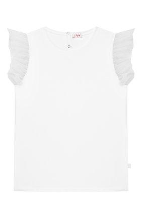Детская хлопковая футболка IL GUFO белого цвета, арт. P20TS236M0014/10A-12A   Фото 1