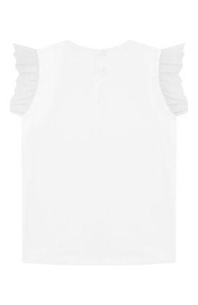 Детская хлопковая футболка IL GUFO белого цвета, арт. P20TS236M0014/10A-12A   Фото 2
