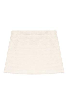Детская хлопковая юбка IL GUFO белого цвета, арт. P20GN170C0049/2A-4A | Фото 2