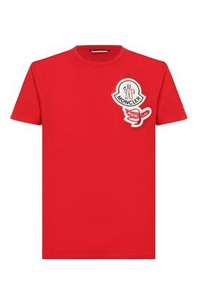Мужская хлопковая футболка 2 moncler 1952 MONCLER GENIUS красного цвета, арт. F1-092-8C712-00-8390T | Фото 1