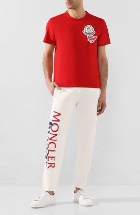 Мужская хлопковая футболка 2 moncler 1952 MONCLER GENIUS красного цвета, арт. F1-092-8C712-00-8390T | Фото 2