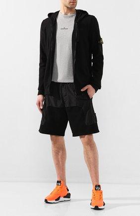Мужские комбинированные шорты STONE ISLAND SHADOW PROJECT черного цвета, арт. 721960307 | Фото 2