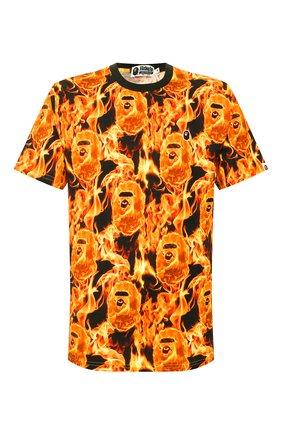Мужская хлопковая футболка BAPE оранжевого цвета, арт. 1G30109010 | Фото 1
