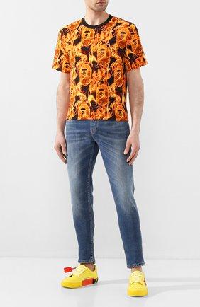 Мужская хлопковая футболка BAPE оранжевого цвета, арт. 1G30109010 | Фото 2