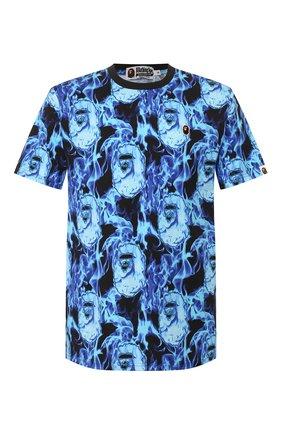 Мужская хлопковая футболка BAPE синего цвета, арт. 1G30109010   Фото 1