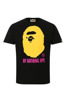 Мужская хлопковая футболка BAPE черно-белого цвета, арт. 1G30110066   Фото 1